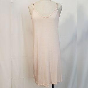LA MADE Slip Dress Size Medium Beige/Peach